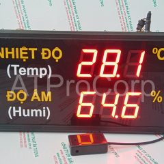 TEMPERATURE HUMIDITY LED DISPLAY MODEL AT-THMT-S