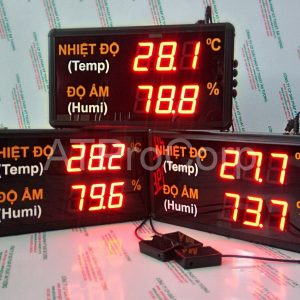 TEMPERATURE HUMIDITY LED DISPLAY MODEL AT-THMT-L