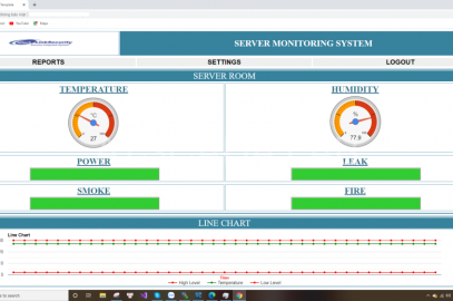 ENVIRONMENTAL MONITORING AND ALARM SYSTEM FOR SERVER CENTER